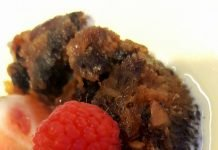 Plum-pudding et sauce au whisky