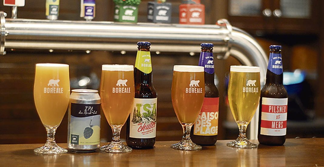 4 bières de Boréale