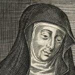 Gravure de V0002761 Hildegard von Bingen par W. Marshall.