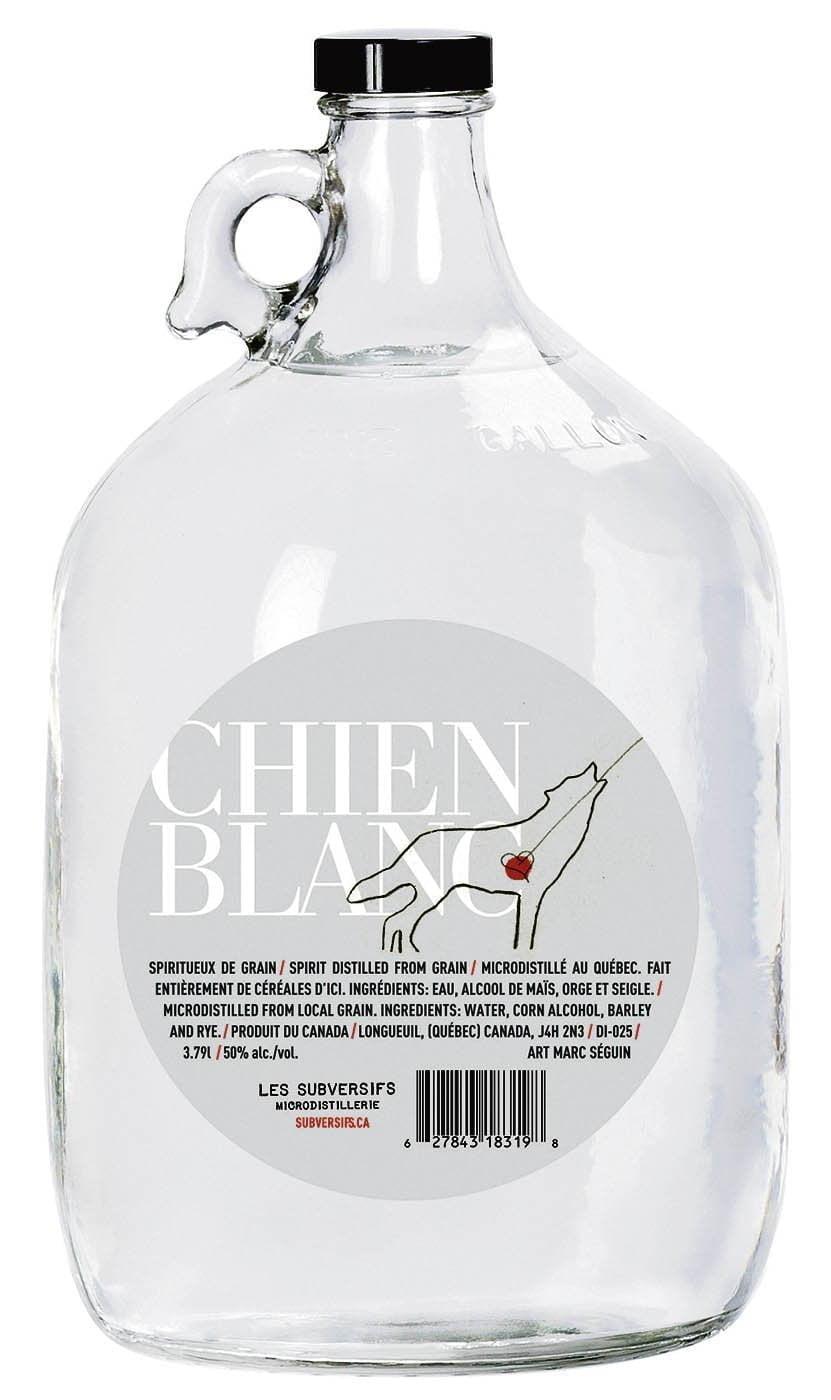 Une dame jeanne de Les Distillateurs Subversifs Chien blanc, 50%