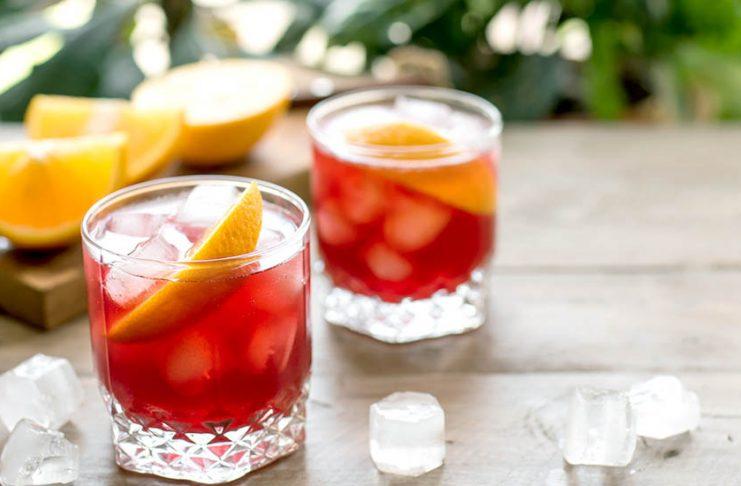 2 cocktails au gin
